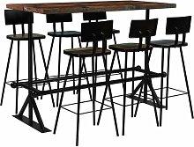Essgruppe Peterlee mit 6 Stühlen Williston Forge