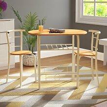Essgruppe Reenan mit 2 Stühlen 17 Stories Farbe: