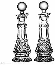 Essig Öl Set Flaschen mit Korken Kristall ca. 150