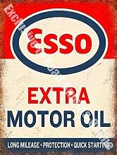 Esso Extra Motorenöl Kann Petrol Vintage Garage Metall/Stahl Wandschild - 30 x 40 cm