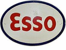 Esso Gusseisen Schild Plakette Tür Wand Garage Benzin Öl Werkstatt Garage Auto