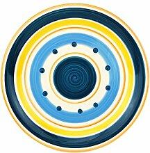 Essteller Cefalu - Blau, Orange & Gelb im