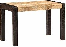 Esstisch 120x60x76 cm Raues Mango-Massivholz
