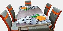 Esstisch aus Glas, ausziehbar, Bedruckt, mit 6