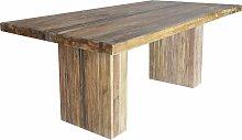 Esstisch Banda Teak-Holz Mitte der Platte und Bein