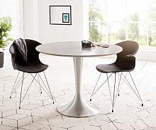 Esstisch Charo 100x100 Grau rund Beton Gestell