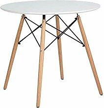 Esstisch/Esstisch, rund, weiß, modern, Holz, für