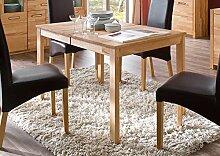Esstisch, Esszimmertisch, Küchentisch, Tisch, Massivholztisch, ausziehbar, Ausziehtisch, Kernbuche, Mittelauszug