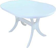 Esstisch in Weiß ausziehbar oval