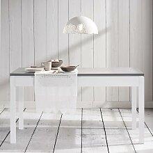 Esstisch in Weiß/Grau ca.150x80cm 'Liana'