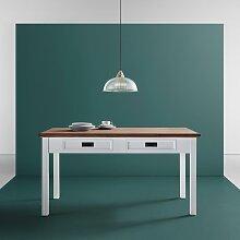 Esstisch in Weiß/Kieferfarben ca.150x80cm