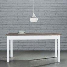 Esstisch in Weiß/Kieferfarben ca.160x80cm