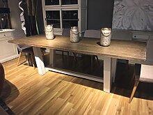 Esstisch Küchentisch HENRY moderner Landhausstil Vintage Used-Look Shabby Chic 240 x 100 x 76cm (B/T/H)
