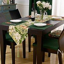 Esstisch Läufer,Tischdecke Stoff Des Amerikanischen Ländliche Kleine Frische Couchtisch Tischläufer,Platzdeckchen-A 32x180cm(13x71inch)