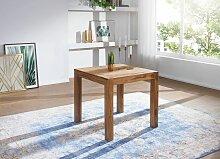 Esstisch Massivholz Sheesham 80 cm Esszimmer-Tisch