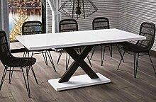 Esstisch Mila ausziehbar 130cm - 180cm Weiss