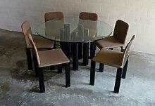 Esstisch mit Sechs Stühlen von Marco Zanuso für