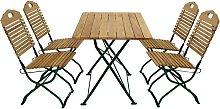 Esstisch mit Stühlen für Garten klappbar