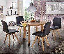 Esstisch mit Stühlen mit rundem Tisch Stühle in