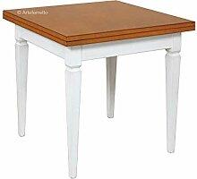 Esstisch quadratisch 2 Farbe 80x80 cm, Tisch aus