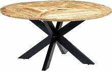 Esstisch Rund 150×76 cm Mango Massivholz - Youthup