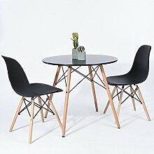 Esstisch rund 80 cm Skandinavisches Design Holz