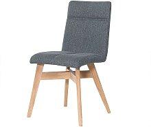 Esstisch Stühle in Grau Webstoff