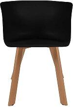Esstisch Stühle in Schwarz Kunststoff