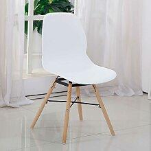 Esstisch Stühle in Weiß Kunststoff Retro Style