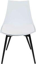 Esstisch Stühle in Weiß und Schwarz Kunststoff