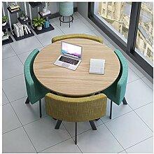 Esstisch und Set Stühle, 1 Tisch, 4 Stühle,