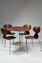 Esstisch & vier Stühle von Arne Jacobsen für