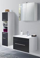 Esstisch Wohnzimmertisch Hochglanz Weiß mit Einsatz Saliente5