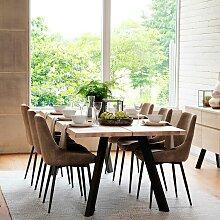 Esstischgruppe im Loft Style 6 Stühlen (7-teilig)