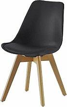 Esstischstuhl mit Sitzschale Schwarz (2er Set) Pharao24