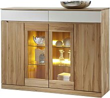 Esszimmer Highboard aus Kernbuche Massivholz LED
