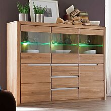 Esszimmer Highboard aus Wildeiche massiv LED