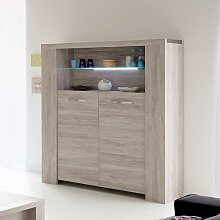 Esszimmer Highboard in Grau modern