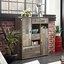 Esszimmer Highboard in Grau Treibholz Dekor