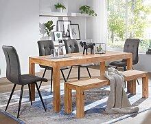 Esszimmer Sitzbank Massiv-Holz Akazie 120 x 45 x
