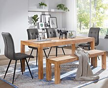 Esszimmer Sitzbank Massiv-Holz Akazie 140 x 45 x