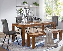 Esszimmer Sitzbank Massiv-Holz Sheesham 140 x 45 x