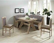 Esszimmer Sitzecke in Braun Grau Eckbank und