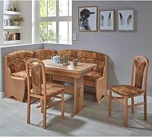 Esszimmer Sitzecke in Terracotta abstrakt