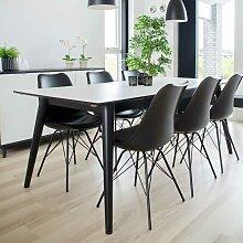 Esszimmer Sitzgruppe in Schwarz und Weiß