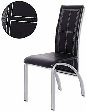 Esszimmer-Stuhl JOY - schwarz - Kunstleder