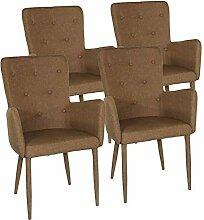 Esszimmer-Stuhl-Set 4 Stück Armlehner Stuhl Anja