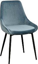 Esszimmer Stuhl Set in Blau und Schwarz modern