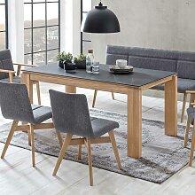 Esszimmer Tisch in Eiche Bianco Keramikplatte in