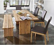 Esszimmer-Tischgruppe aus Wildeiche Massivholz